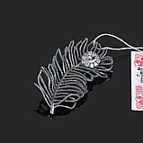 Серебряная крупная брошь Бенефис 50036, фото 2