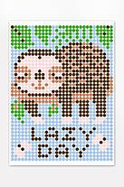 "*Картина по номерам стикерами в тубусе ""Ленивец"", 33х48см, 1200 стикеров., фото 3"