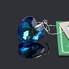 Подвеска кулон Сердечко с кристаллом Swarovski 36215-18 ВВ