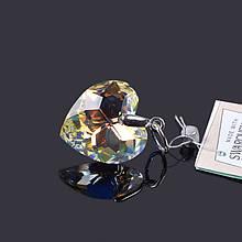 Подвеcка Сердце с кристаллом Swarovski 36215-18 АВ