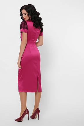 GLEM плаття атласне рожеве Дафнія к/р, фото 2