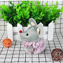 Мягкая игрушка мышка, размер 10 см, фото 2