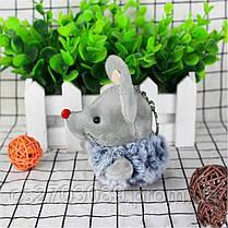 Мягкая игрушка мышка, размер 10 см, фото 3