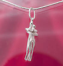 Серебряная подвеска для влюбленных Парочка 34137