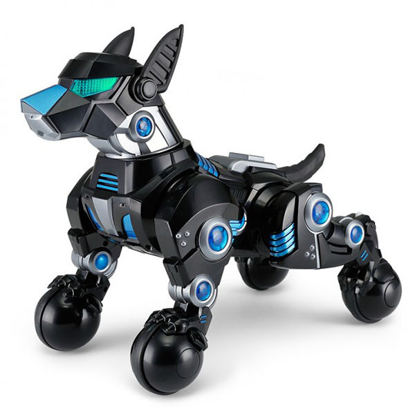 Собака-робот 77960 на радиоуправлении, с аккумулятором | 30 см | Черного цвета