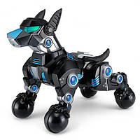 Собака-робот 77960 на радиоуправлении, с аккумулятором | 30 см | Черного цвета, фото 1