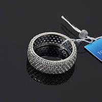 Серебряное кольцо, усыпанное камнями 18 размер Selenit 10305