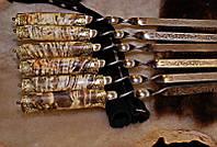 """Набор авторских шампуров с лазерной гравировкой """"Valor"""", в колчане (именные шампура под заказ)"""