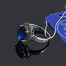 Серебряное кольцо с сапфиром Джемма 17 размер Irida-V