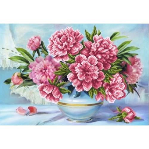 Вышивка бисером Канва цветы пионы Матренин посад Пионы в вазе