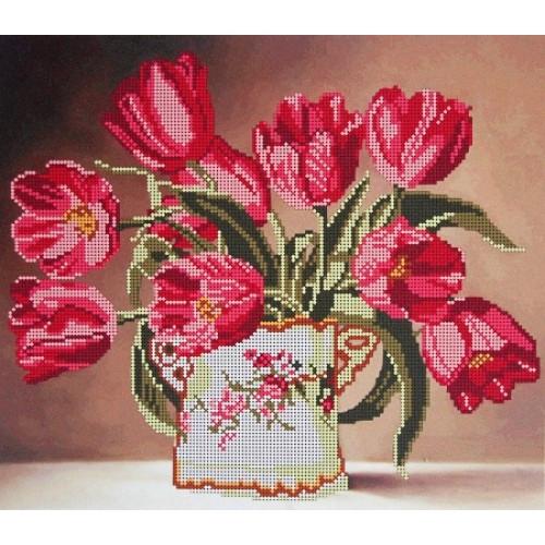 Вышивка бисером, Канва схемы цветы Тюльпаны