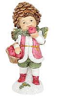 Декоративная фигурка Малыш Эльф с яблоками, 12 см., 2 вида., фото 1