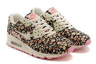 Женские кроссовки Nike Air Max 90 Floral Print розовые