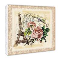 Декупаж на полотне Идейка Париж Разноцветный (94611)