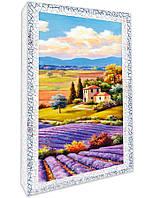 Декупаж на полотне Идейка Пейзаж Лавандовый пейзаж 20 х 40 см Разноцветный (94674)