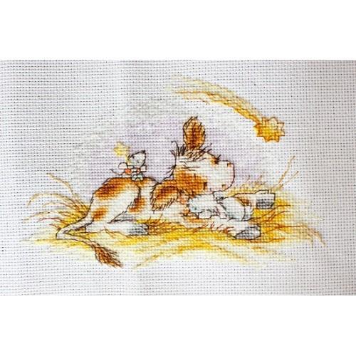 Наборы для вышивания крестом Luca S Детское Рождественская история