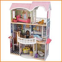 Дом для кукол KidKraft Magnolia Магнолия кукольный дом с мебелью и звуком 65839