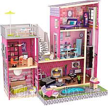 Кукольный дом с мебелью Особняк Люкс KidKraft Luxury 65833