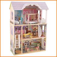 Домик для кукол KidKraft Kaylee Келли кукольный дом с мебелью 65251 / 65869
