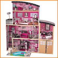 Дом для кукол KidKraft Sparkle Mansion Особняк Блеск кукольный домик с мебелью 65826