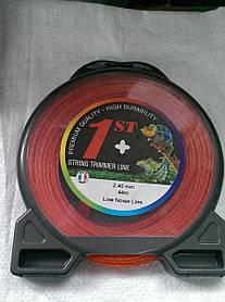 Струна, леска косильная ○ 2,4мм 44 метра крученная Франция