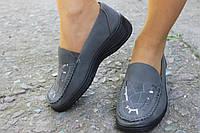 Женские осенние туфли с пайетками