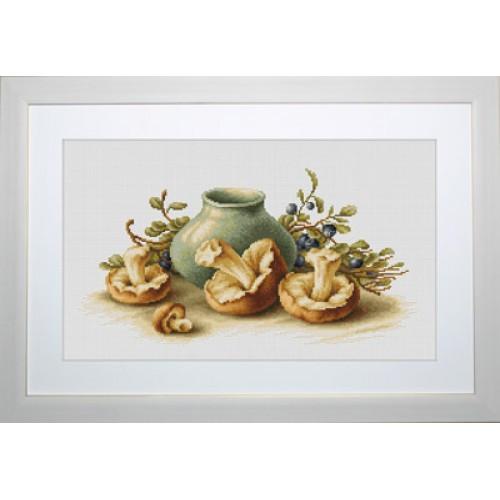 Наборы для вышивания крестом Luca S Натюрморт с грибами