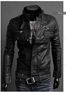 Куртка кожа PU байкерский стиль