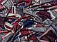Трикотаж вискозный двусторонний крупная абстракция, красный с синим, фото 3