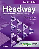 New Headway Upper-Intermediate Fourth Edition Workbook + iChecker with Key