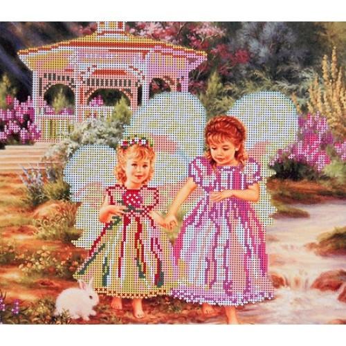 Вышивка схема бисером, Канва Ангелы Сестры Ангелы