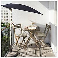 Стол садовый ASKHOLMEN 60x62 см