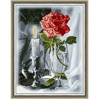 Вышивка цветы бисером,Канва схемы натюрморт Роза в бокале