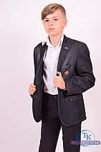 Пиджак для мальчика джинсовый Slim Fit (color 02) Palmiro Rossi 6050/02 Рост:122,128,134,146