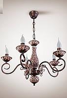 Люстра классическая со свечами в зал, спальню, гостиную 10905