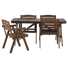 Стол и 4 стула FALHOLMEN