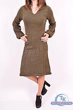 Платье женское  вязанное (цв.т/зеленый) Miss Dora 1748 Размер:44,46