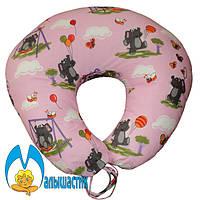 Подушка для кормления Слоники на розовом (улучшенная)