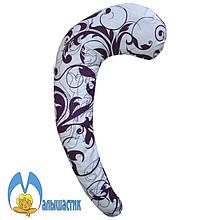 С-образная подушка для беременных Фиолетовый орнамент