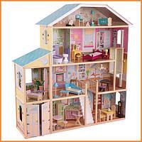 Дом для кукол KidKraft Majestic Mansion Величественный особняк кукольный домик с мебелью 65252