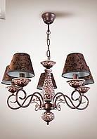 Люстра классическая с абажурами в зал, спальню, гостиную  10905-1