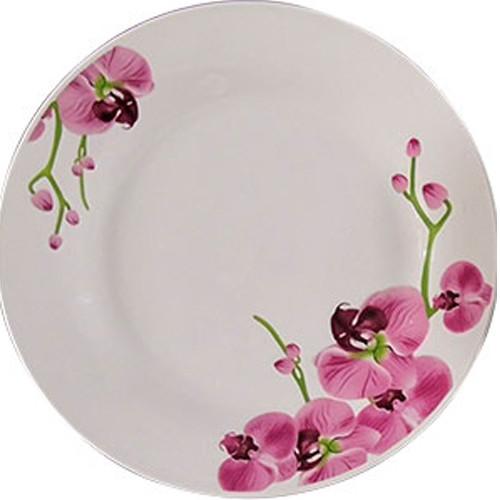 Тарелка керам. 175 мм мелкая Орхидея /уп. 12 шт.