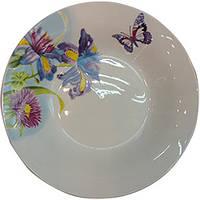 Тарелка керам. 175 мм мелкая Полевые цветы /уп. 12 шт.