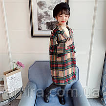 Пальто для девочки демисезонное Бусина Berni, фото 2
