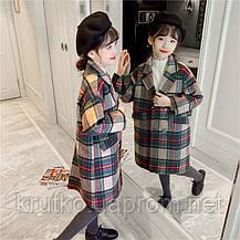 Пальто для девочки демисезонное Бусина Berni, фото 3