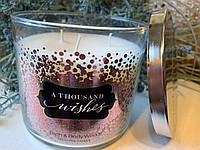 "Ароматическая свеча ""Тысяча пожеланий"" Bath and Body Works"