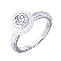 Серебряное кольцо с керамикой и фианитами 000122485 000122485 16 размер
