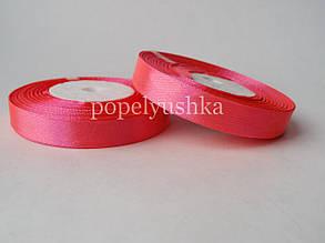 Стрічка атласна 1,2 см насичено-рожева