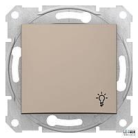 """Выключатель кнопочный Schneider Sedna титан """"свет"""" (SDN0900168)"""