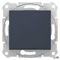 Выключатель кнопочный Schneider Sedna графит (SDN0700170)